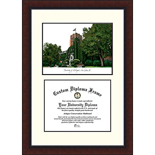 """UPC 841136115141, Campus Images """"Michigan Wolverines Legacy"""" Scholar Diploma Frame, 8.5"""" x 11"""""""