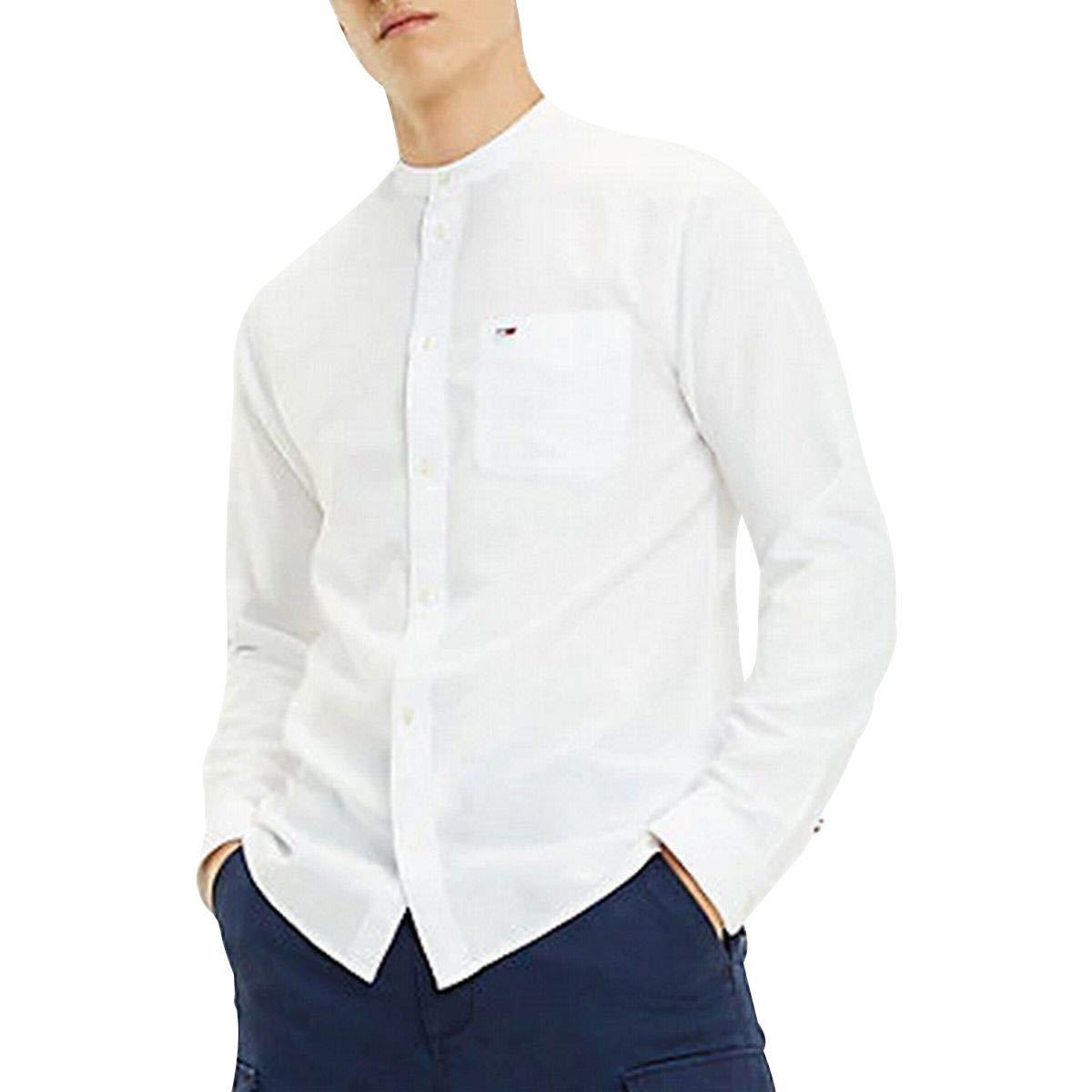 Tommy Hilfiger TJM Mao Linen Shirt Chemise Casual Homme