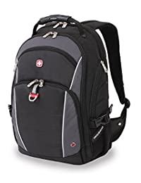 SwissGear SA3295 Black with Grey Laptop Computer Backpack - Fits Most 15 Inch Laptops