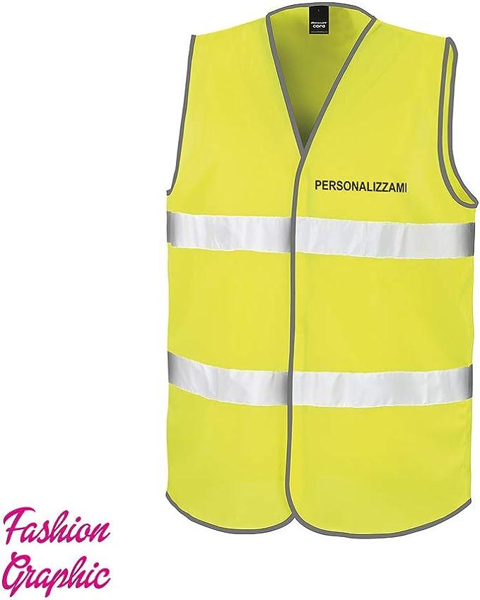 Fashion Graphic Gilet Alta visibilit/à Personalizzato Una Riga Catarifrangente Giubbotto ISO EN20471 L//XL