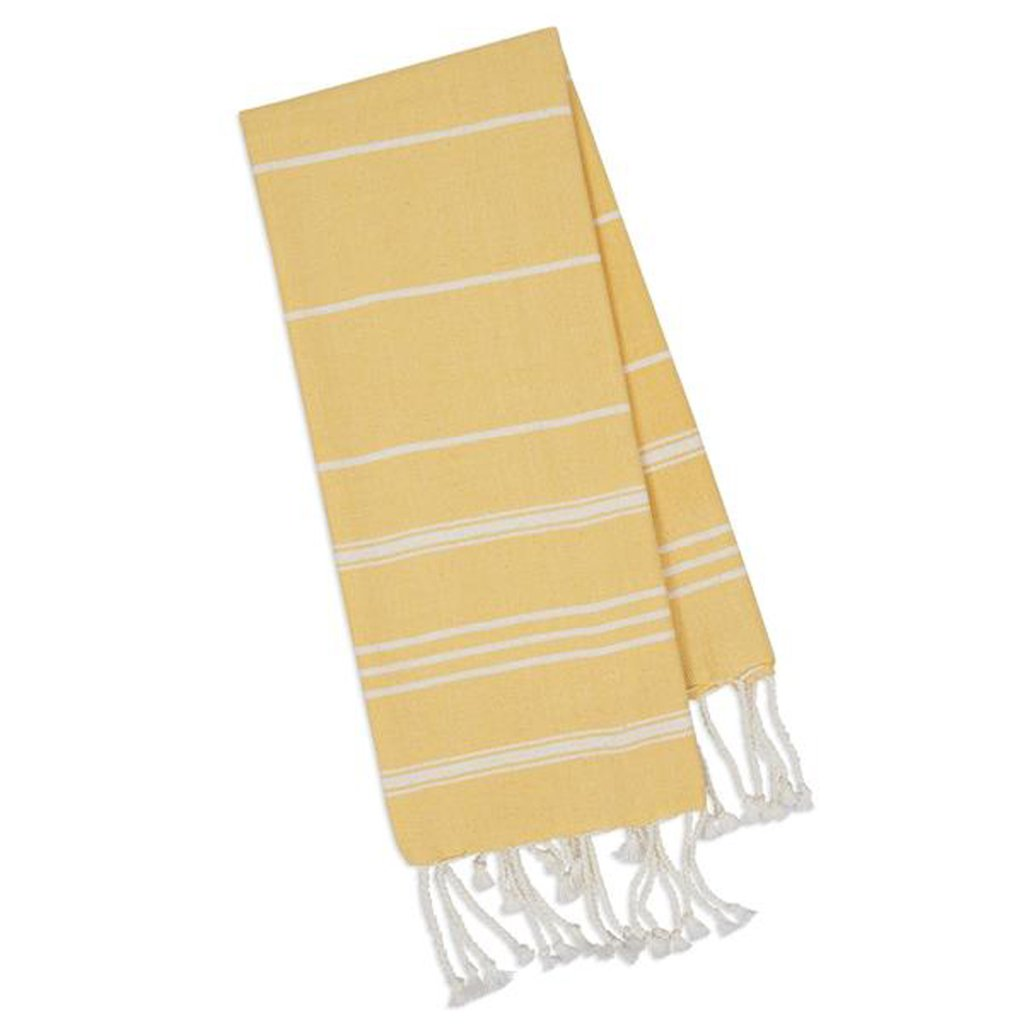 Yellow Fouta Towel   Turkish Inspired   Kitchen Hand Towel   Great Gift Idea   Stylish by Design Imports