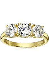 Sterling Silver Round-Cut Three-Stone Cubic Zirconia Ring (2.05 cttw)