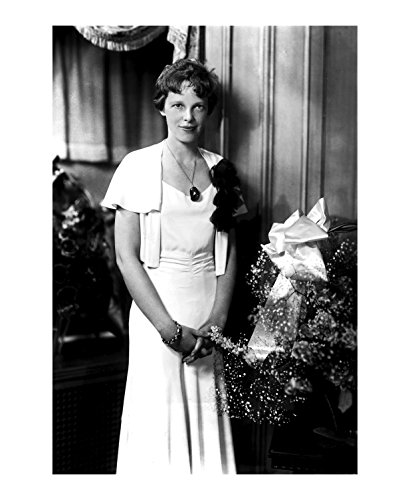 Amelia Earhart Wearing A Dress - 11