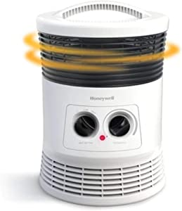 Honeywell 360 Surround Fan Forced Heater for Medium Room with Manual Controls, White
