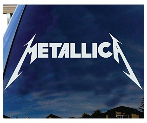Metallica American Hard rock Metal band Logo Album cover silhouette car truck laptop window decal sticker white - Sticker Graphic - Auto, Wall, Laptop, (Decal Logo Window Graphic)