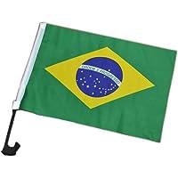 Bandeira Para Carros 5 Unid Torcedor Brasil Jogo Copa do Mundo (2014-54)