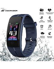Zeerkeer Smart Armband Fitness Uhr, Activity Tracker mit Herzfrequenz Monitor & Sleep Monitor Schrittzähler Smartwatch Bluetooth Nachrichten Benachrichtigung für iPhone Android iOS Smartphones 05027 …