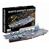 Top Race 3D Puzzle, Nimitz Aircraft Carrier Puzzle, No Glue, No Scissors, Easy to Assemble. (70 Pieces)