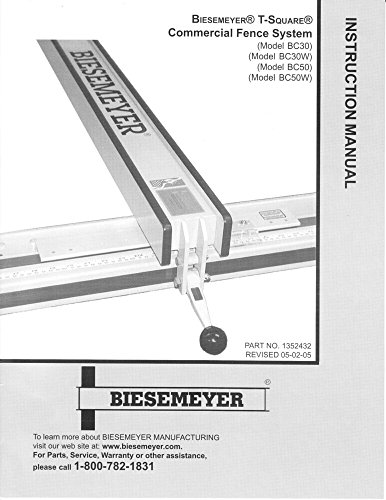 Biesemeyer Commercial Fence (Delta Rockwell Biesemeyer T-Square Commercial Fence Instructions [Plastic Com...)
