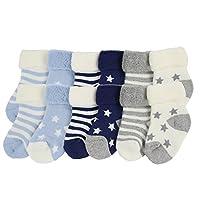 YULI Unisex Kids Newborn Baby Boys Girls Heavy Duty Comfort Navy Striped Rib ...