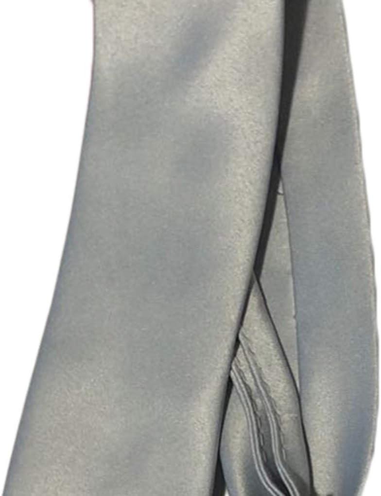 Boburyl Hommes Gar/çons Zipper Tie Solide pr/é-attach/é Cravate Skinny Affaires de soir/ée de Mariage Club Neckwear Suit
