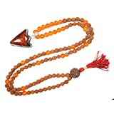Meditation Mala Ambition Carnelian Beads Pendent Handmade Healing Japamala Necklace