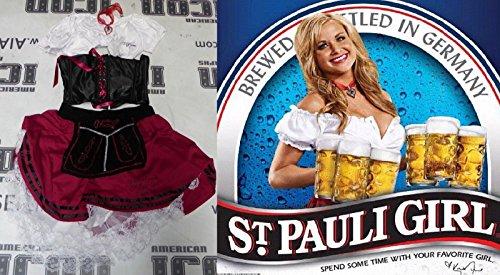 Pauli Girl Costume (Kara Monaco 3x Signed Personally Worn Used St Pauli Girl Costume PSA/D)