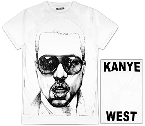 Authentic KANYE WEST Ink Sketch Face Photo Slim T-Shirt S M L XL XXL NEW