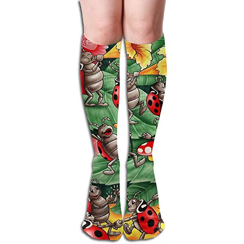 MEILOP Unisex Cricket Insect Symphony Art Compression Socks-Graduated Compression Knee High Legging Socks by MEILOP