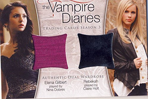 Diaries Vampire Rebekah Costume (Vampire Diaries Season 3 Three Dual Wardrobe Relic Card DM-01 Elena and)