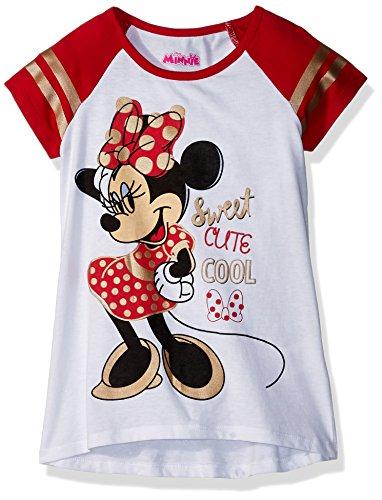 Disney Girls' Toddler Minnie Mouse Short Sleeve Tee Shirt, O