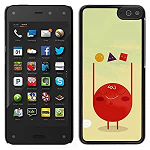 // PHONE CASE GIFT // Duro Estuche protector PC Cáscara Plástico Carcasa Funda Hard Protective Case for Amazon Fire Phone / Polygon Art Red Blood Cell Shapes /