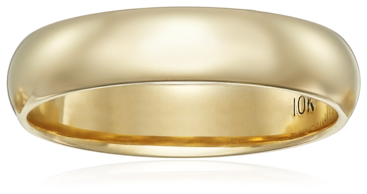 Classic Fit 10K Yellow Gold Band, 4mm, Size 7