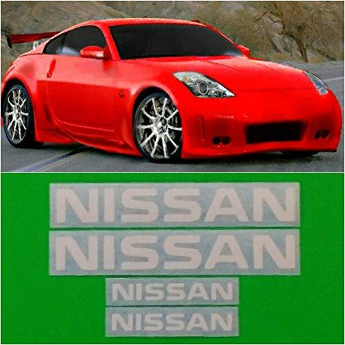 R&G NISSAN & 350Z High Temp Brake Caliper Decal Sticker Set of 4 (White) ()