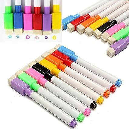 xel_uu.11 - Rotuladores magnéticos para pizarra (8 colores ...