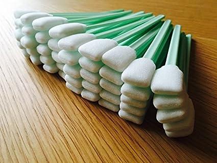 100 Cabezales de Espuma de SWABS para Limpiar EPSON HP Roland MIMAKI MUTOH Eco