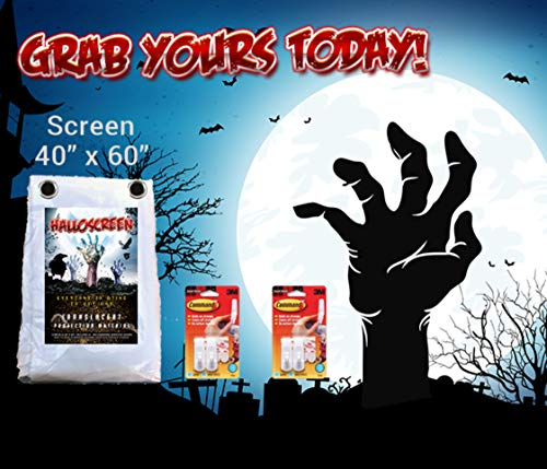 Halloween Projector Video Screen -Clearly Project Scary Images to Your Visitors with Our High Resolution Window Illusion Screen -