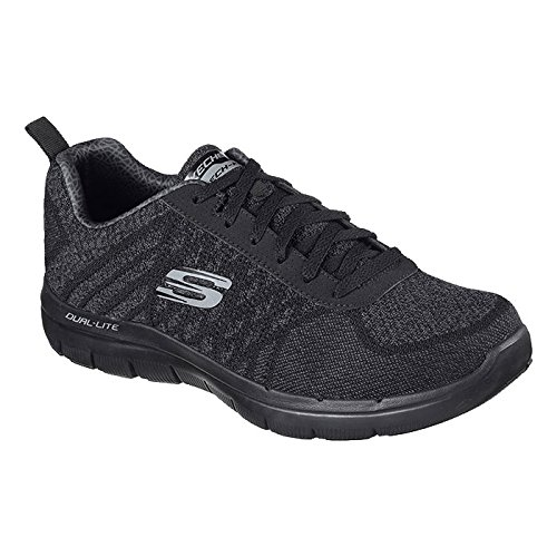 25af3b3f65 Galleon - SKECHERS MENS FLEX ADVANTAGE 2.0 GOLDEN PO SHOES BLACK SIZE 10.5