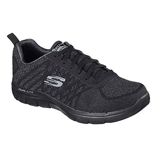 Skechers Flex 2 0 Shoes 5 42 Point Size Golden Advantage Black pZpa7Uxq