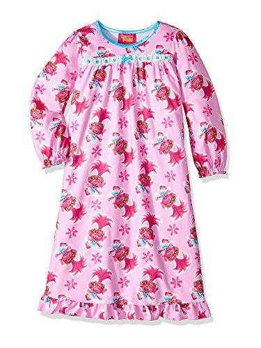 Ruffle Bed Jacket - Trolls Girls' Toddler Granny Nightgown, Baby Pink, 2T