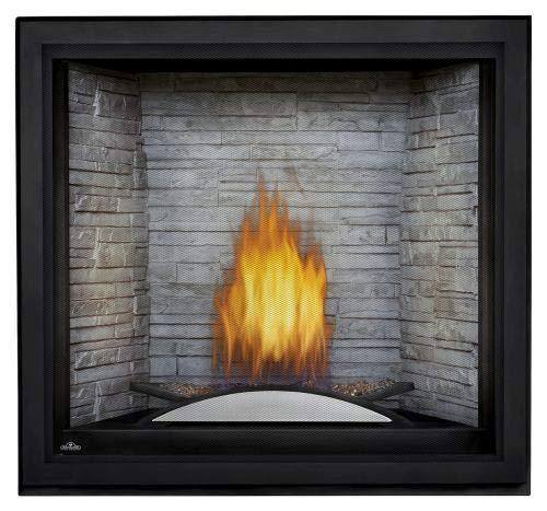 Starfire LP Fireplace w/Fire Cradle, Standard Barrier & White Panels
