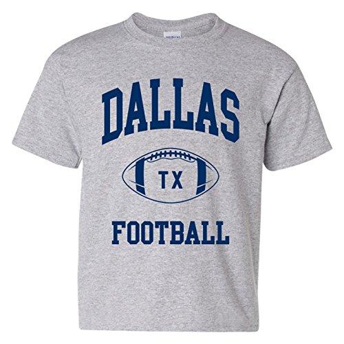 - Dallas Classic Football Arch American Football Team Sports Youth T Shirt - X-Large - Sport Grey