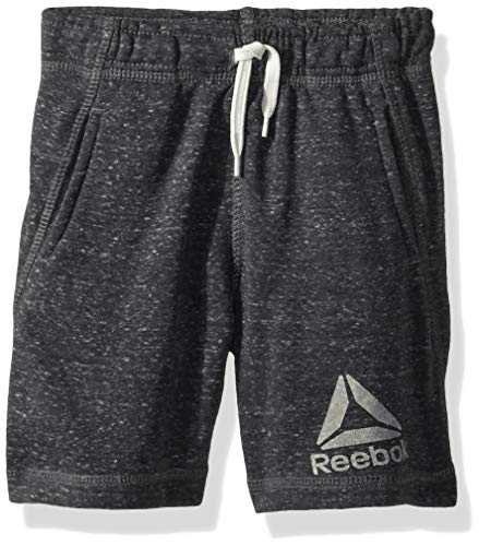 - Reebok Boys' Toddler Snow French Terry Pull-On Short, Delta Logo Slate Grey, 4T