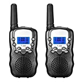 FUNTOK Walkie Talkie for Kid Walkies Talkies 22 Channel Two Way Radios Long Range Outdoor Walkie Talky (Black)