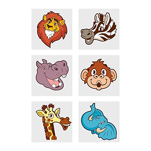 (Zoo Animal Temporary Tattoos)