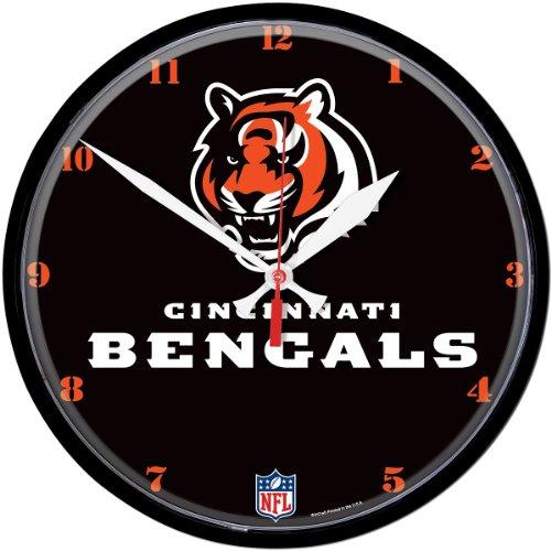 NFL Cincinnati Bengals Round Clock, Multicolor (Wincraft Nfl Round Clock)