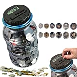 ONEVER Automatic Coin Counter Piggy Banks Creative Large Money Saving Jar Bank LCD Display