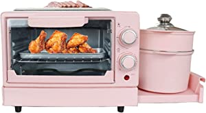 4 in 1 Electric Toaster Breakfast Machine Mini Oven Steak Egg Omelette Frying Pan Bread Pizza Grill Steamer Soup Pot for Home,Type b
