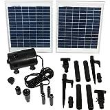 Sunnydaze Solar Pump and Solar Panel Kit with 120-Inch Lift, 396 GPH