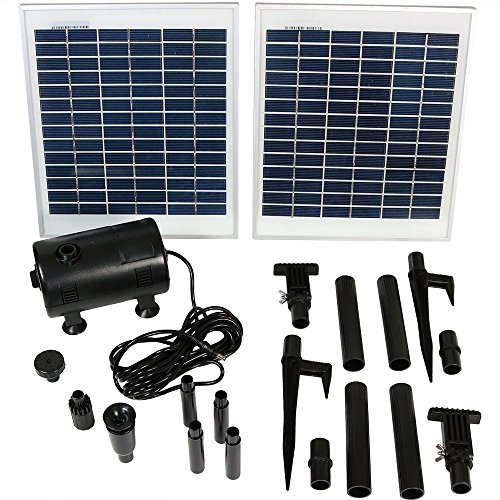 Sunnydaze Outdoor Solar Pump and Panel Fountain Kit with 120-Inch Lift, 396 GPH ()