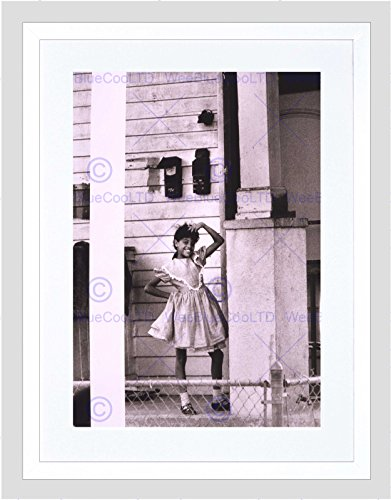 New Orleans Framed Photograph (VINTAGE PORTRAIT AFRICAN AMERICAN GIRL NEW ORLEANS FRAMED ART PRINT B12X11807)