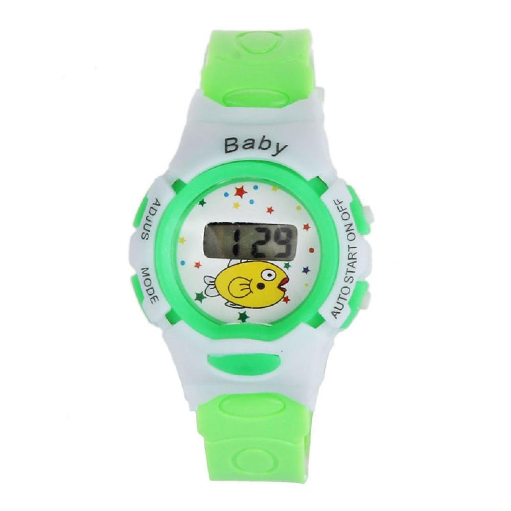 SMTSMT-Students Electronic Digital Wrist Sport Watch - Green