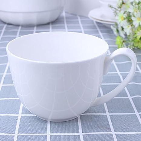 WJIANLL Almuerzo cup,taza cerámica taza avena fideos de espuma de gran capacidad tazón, 14 * 10cm: Amazon.es: Hogar