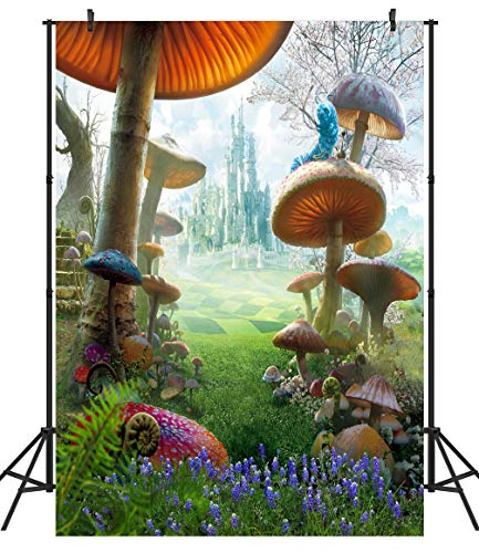 DULUDA 5X7FT Fantasy Fairy Tale Wonderland Mashroom Poly