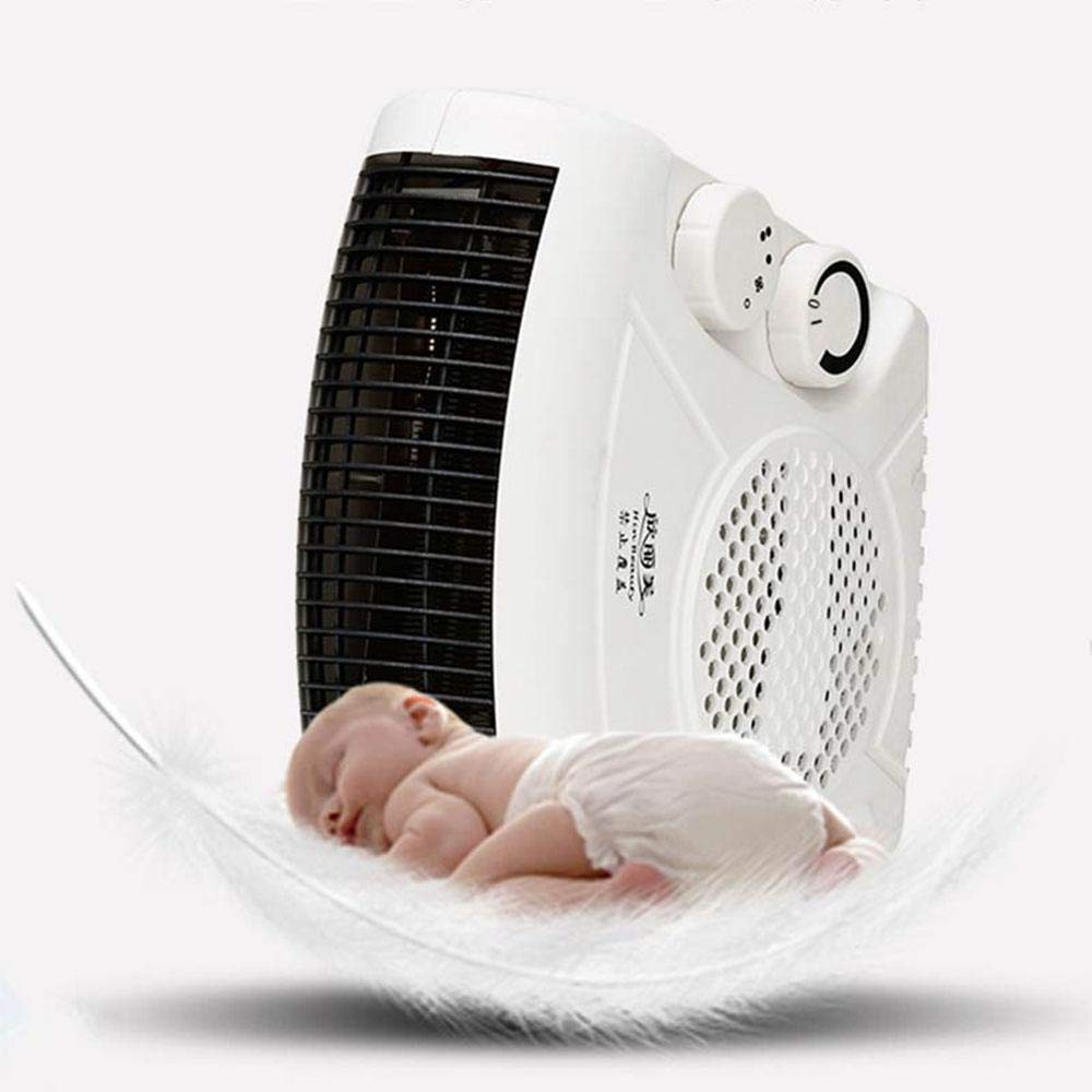 [Upgrade] KOBWA Electric Fan Heater W/ 2 Level Hot & Cool Air Setting, 750W/1450W Silent Flat Upright Warm Air Blower for Small Rooms W/ 2M/6.56FT Extra Long Cable by KOBWA (Image #7)