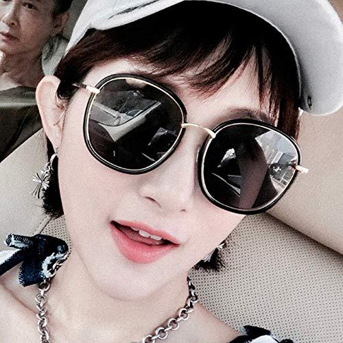 Gray Rouge Lunettes Nouvelles Sunglasses uv Rondes Box Femme Net Générique Anti Soleil Myopie Personnalité De Black Polarisée couleur Film Powder Coréenne Film Frame qwE1t