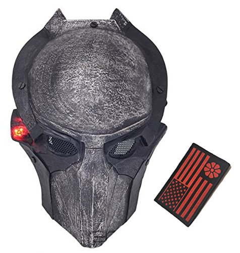 Eternal Heart WT606 Wire Mesh Alien Vs Predator AVP Wolf Full Face Protection Mask (Black A)