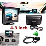 CHAMPLED 4.3Inch TFT LCD Car Rear View Monitor+Night Vision Reverse Camera BMW M BENZ AUDI VW VOLKSWAGEN VOLVO JAGUAR PORSCHE