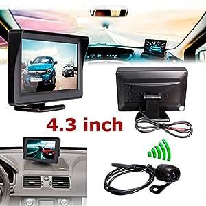 CHAMPLED 4.3Inch TFT LCD Car Rear View Monitor+Night Vision Reverse Camera HONDA INFINITI KIA HYNDAI DACIA DAEWOO