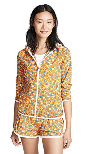 - Tory Sport Women's Printed Packable Jacket, Ritzy Floral Vibrant Orange, X-Small